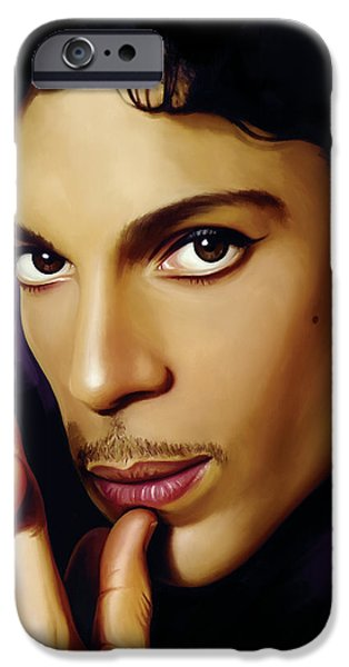 Prince Artwork iPhone Case by Sheraz A