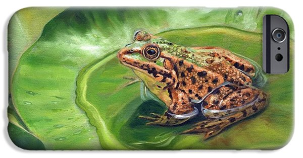 Amphibian iPhone Cases - Prince Charming iPhone Case by David Stribbling