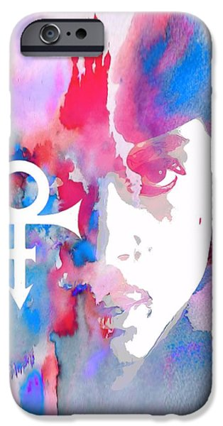 Controversy iPhone Cases - Prince Watercolor iPhone Case by Dan Sproul
