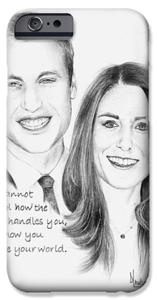 Kate And Prince William iPhone Cases - Prince William and Kate iPhone Case by Dave Lawson