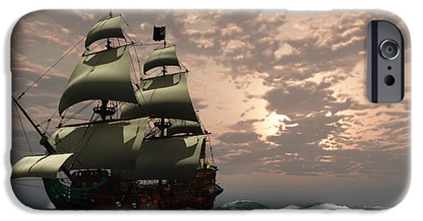 Tall Ship iPhone Cases - Prince William Ship iPhone Case by Corey Ford