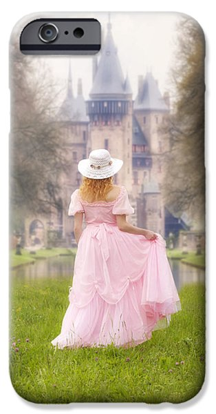 Noble iPhone Cases - Princess And Her Castle iPhone Case by Joana Kruse