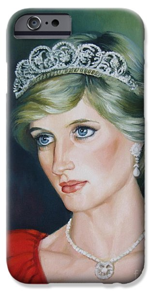 Princess Diana iPhone Cases - Princess Diana iPhone Case by Elena Oleniuc