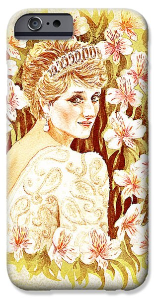 Prince William iPhone Cases - Princess Diana iPhone Case by Irina Sztukowski