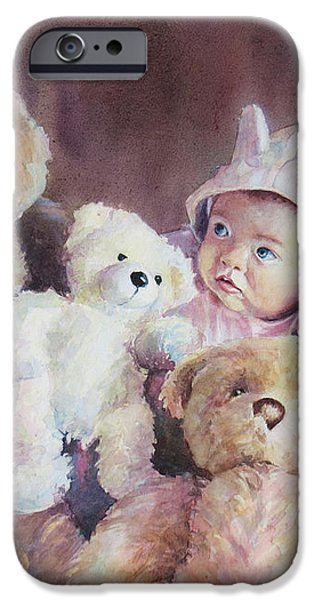 Princess Layla and Friends iPhone Case by Gabriele Baber