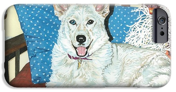 Husky iPhone Cases - Princess Leia iPhone Case by Barbara Jewell