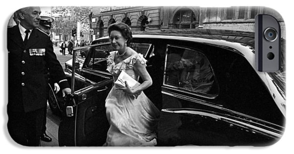 The Royal Family iPhone Cases - Princess Margaret iPhone Case by Nancy Clendaniel