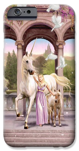 Animals Photographs iPhone Cases - Princess of the Unicorns Variant 1 iPhone Case by Garry Walton