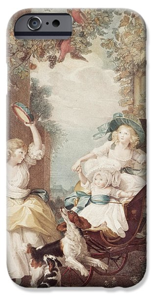 Princess iPhone Cases - Princesses Mary Sophia and Amelia daughters of George III iPhone Case by John Singleton Copley