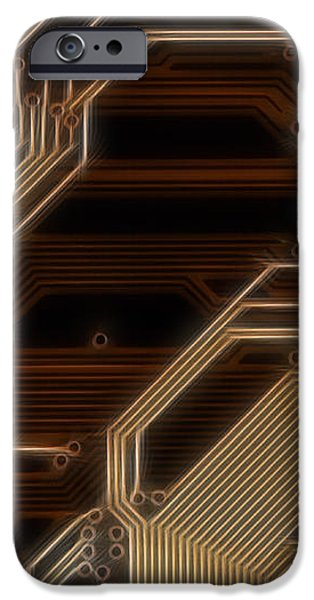 printed curcuit iPhone Case by Michal Boubin