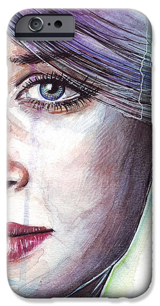 Watercolor Mixed Media iPhone Cases - Prismatic Visions iPhone Case by Olga Shvartsur