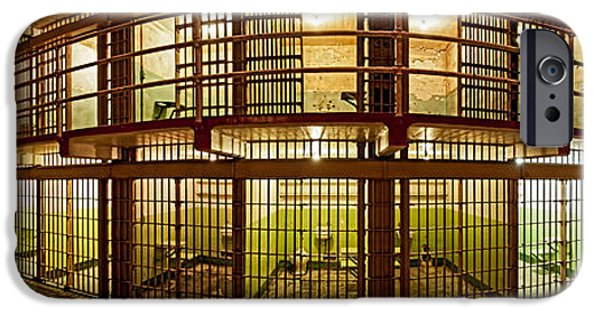 Alcatraz iPhone Cases - Prison Cells, Alcatraz Island, San iPhone Case by Panoramic Images