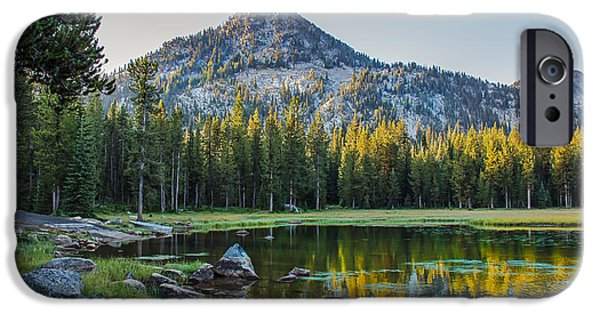 Haybale iPhone Cases - Pristine Alpine Lake iPhone Case by Robert Bales