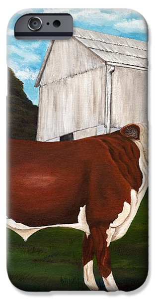 Prize Bull iPhone Case by Michelle Joseph-Long