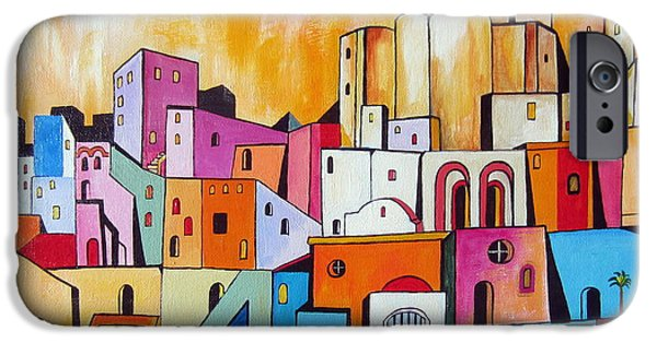 Roberto Paintings iPhone Cases - Procida Island in the South of Italy iPhone Case by Roberto Gagliardi