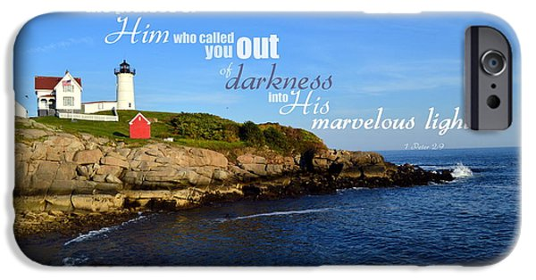 Nubble Lighthouse iPhone Cases - Proclaim the Praises iPhone Case by Kim Blaylock