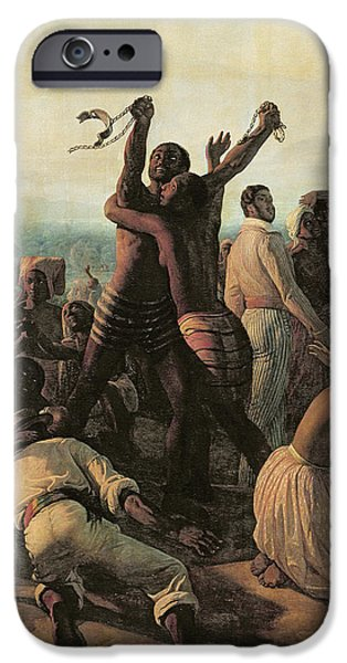 Liberation iPhone Cases - Proclamation Of The Abolition Of Slavery In The French Colonies, 23rd April 1848, 1849 Oil iPhone Case by Francois Auguste Biard