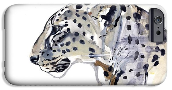 On Paper Paintings iPhone Cases - Profile iPhone Case by Mark Adlington