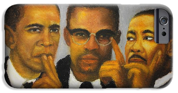 Obama Pastels iPhone Cases - Profound Thinkers iPhone Case by Anthony  Baxton