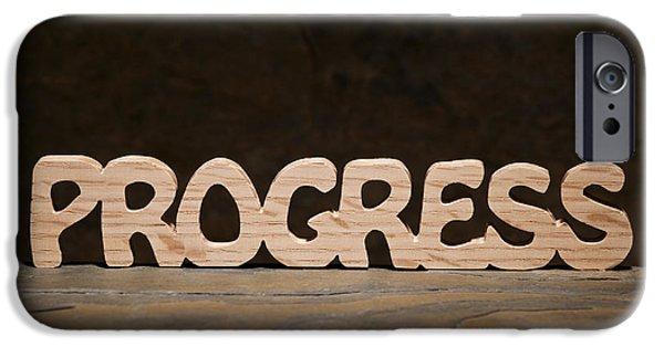 Self-improvement iPhone Cases - Progress iPhone Case by Donald  Erickson