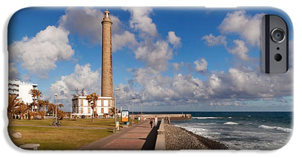 Lighthouse iPhone Cases - Promenade And Lighthouse At Coast iPhone Case by Panoramic Images