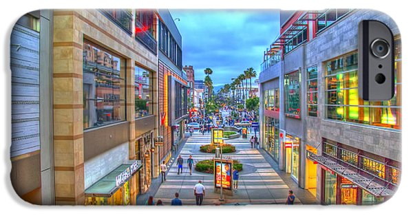 California Tourist Spots iPhone Cases - Promenade at Dusk iPhone Case by Charles Staley