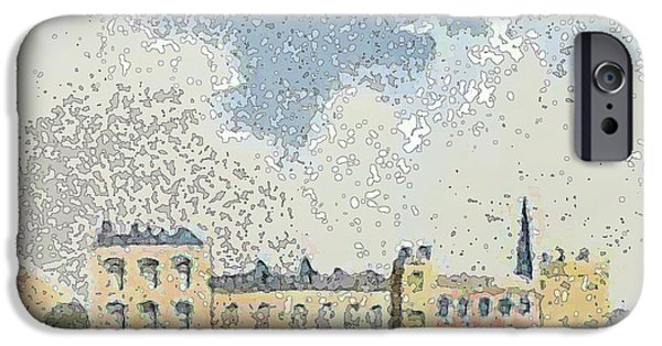 City Scape Drawings iPhone Cases - Promenade at the show grounds  iPhone Case by Pierpont Bay Archives