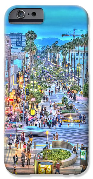California Tourist Spots iPhone Cases - Third Street Promenade iPhone Case by Charles Staley