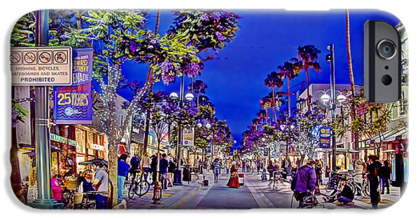 California Tourist Spots iPhone Cases - Promenade Street Performance iPhone Case by Chuck Staley
