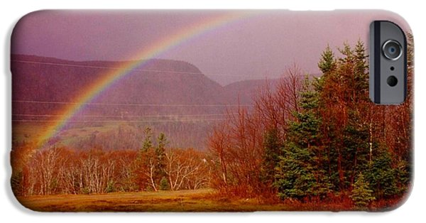 Halifax Art Work iPhone Cases - Promise and Hope Cape Breton iPhone Case by John Malone
