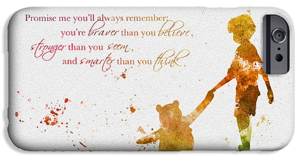 Piglets iPhone Cases - Promise me youll always Remember iPhone Case by Rebecca Jenkins