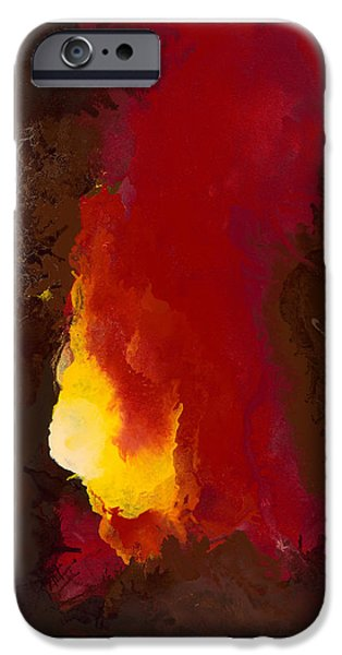 Abstract Digital Paintings iPhone Cases - Promised Spirit iPhone Case by Craig Tinder