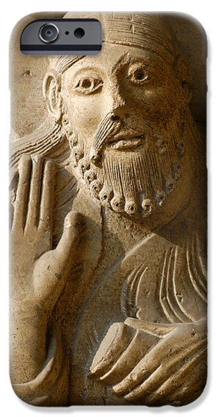 Statue Portrait iPhone Cases - Prophet Isaiah. Detail. Main Portico. 12th Century. Cremona Catedral. Italy iPhone Case by Bridgeman Images