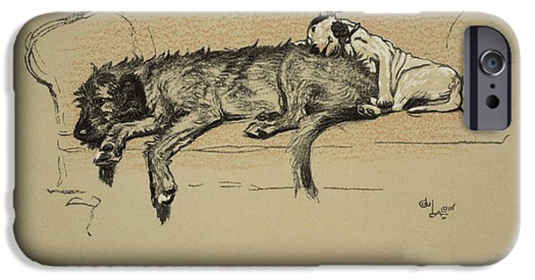Black Dog iPhone Cases - Propitation, 1930, 1st Edition iPhone Case by Cecil Charles Windsor Aldin