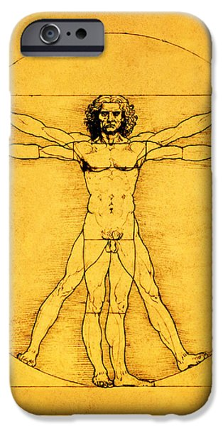Proportions iPhone Cases - Proportions of the Human Figure iPhone Case by Celestial Images