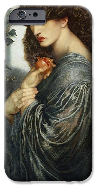 Mythological iPhone Cases - Proserpine iPhone Case by Dante Charles Gabriel Rossetti