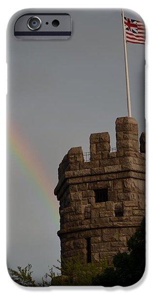 Oxford. Oxford Ma. Massachusetts iPhone Cases - Prospect Hill Somerville MA rainbow iPhone Case by Toby McGuire
