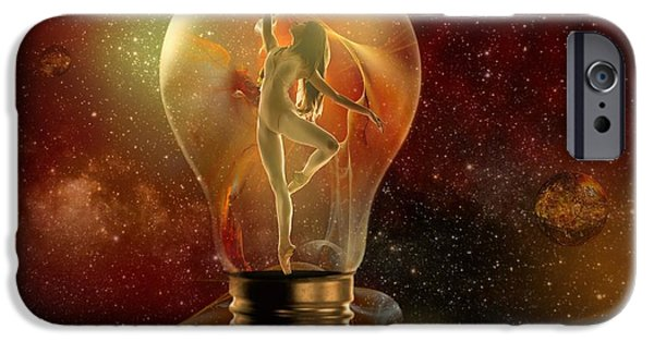 Ballet Dancers Mixed Media iPhone Cases - Protected Space iPhone Case by Franziskus Pfleghart