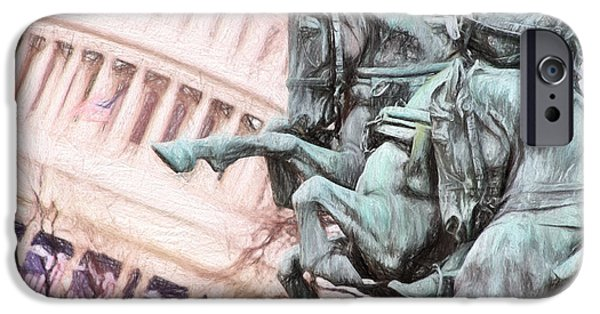 Inauguration iPhone Cases - Protecting The Capital iPhone Case by Cindy Archbell