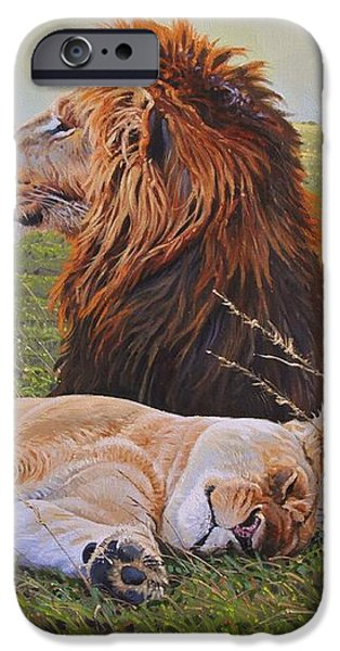 Protecting the Queen iPhone Case by Aaron Blaise