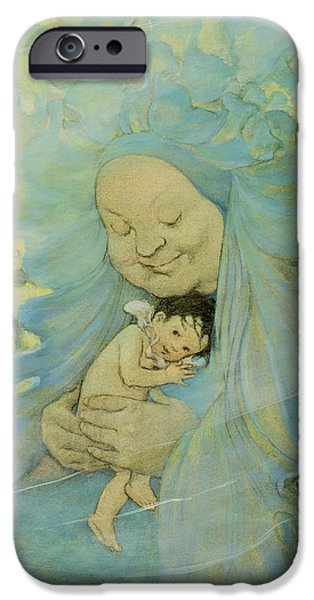 Innocence iPhone Cases - Protection Circa 1916 iPhone Case by Aged Pixel