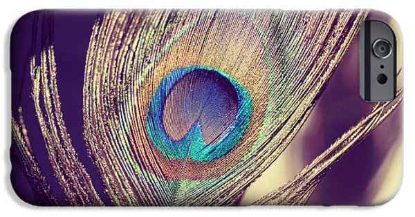 Birds iPhone Cases - Proud as a peacock iPhone Case by Nastasia Cook