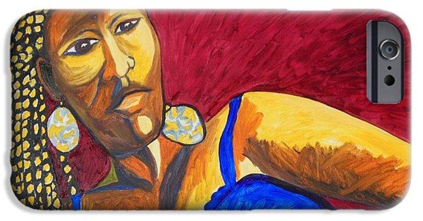 Ethiopian Woman iPhone Cases - Proud Sheruba Ethiopian Braids iPhone Case by Esther Newman-Cohen