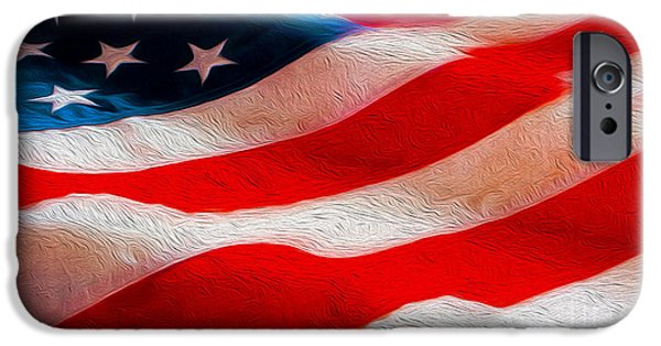 Stars And Stripes Mixed Media iPhone Cases - Proud to be American iPhone Case by Jon Neidert
