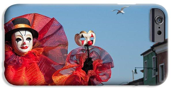 Portrait Of Evil iPhone Cases - Proudly Clown..  iPhone Case by Zina Zinchik