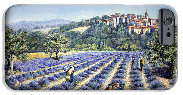 Outdoors Pastels iPhone Cases - Provencal Harvest iPhone Case by Rosemary Colyer