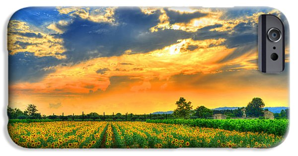 Provence Photographs iPhone Cases - Provence Lights iPhone Case by Midori Chan