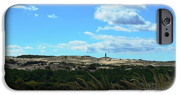 Cape Cod Pyrography iPhone Cases - Provincetown Dunes September iPhone Case by Gus Orr