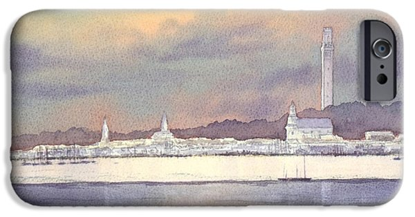 Recently Sold -  - Ocean Sunset iPhone Cases - Provincetown Evening Lights iPhone Case by Bill Holkham