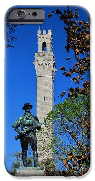 Wwi iPhone Cases - Provincetown Monument iPhone Case by Rrrose Pix